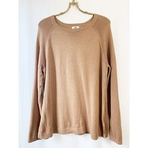 🌸2/30 Old Navy relaxed fit brown pullover sweater